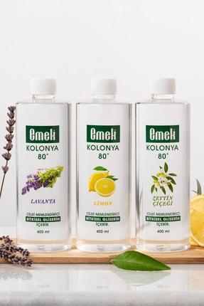 Emek Gliserinli Kolonya 400 Ml - 3'lü Karma Paket - Zeytin Çiçeği / Limon / Lavanta 2