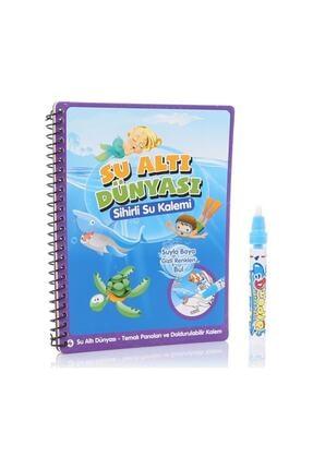 DEEMBRO Sihirli Boyama Kitabı Özel Kalemi Water Magic Boyama Su Altı Su Altı Dünyası 0