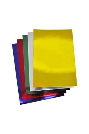 Rubenis A4 Aynalı Metalik Karton 5 Renk 10 Adet 0
