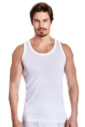 Berrak Erkek Beyaz 6'lı Paket Klasik Atlet 0