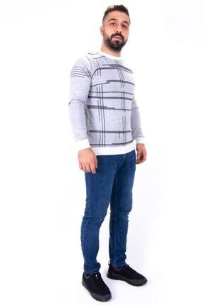 Twister Jeans Erkek Beyaz Siyah Bisiklet Yaka Triko Kazak 1