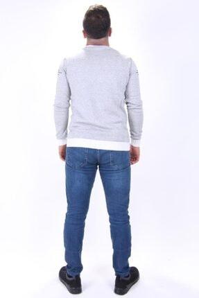 Twister Jeans Erkek Beyaz Siyah Bisiklet Yaka Triko Kazak 3