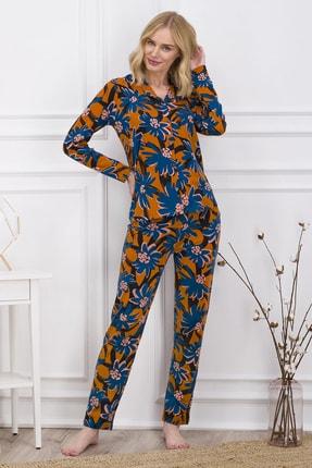 Pierre Cardin Kadın Turuncu Gömlek Pijama Takımı 0