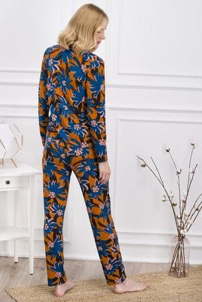 Pierre Cardin Kadın Turuncu Gömlek Pijama Takımı 2