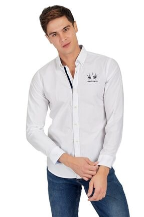 Erkek Beyaz Gomlek - Meness GLVWM10380221