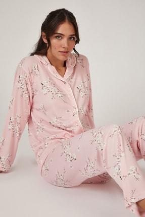 Happiness İst. Kadın Pembe Çiçekli Pijama Takımı GL00031 0
