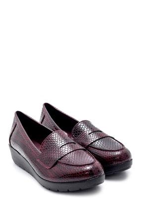 Derimod Kadın Bordo Desenli Ayakkabı 3