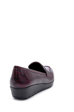 Derimod Kadın Bordo Desenli Ayakkabı 4