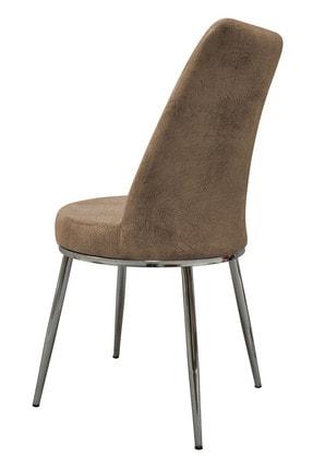 PRATİK DEKOR Krem Lıne Mutfak Sandalyesi 1