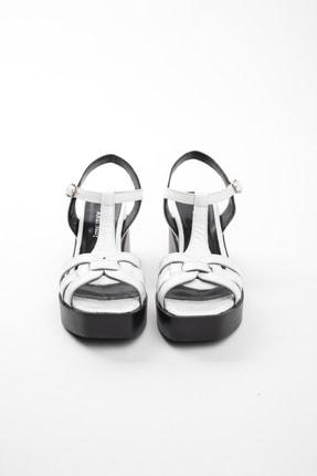 John May Kadın Beyaz Rugan Sandalet Po-012 20568 2