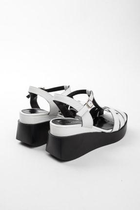 John May Kadın Beyaz Rugan Sandalet Po-012 20568 3
