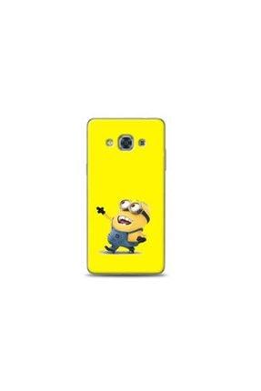 Kılıf Madeni Samsung Galaxy J3 Pro 3 Delikli Minyonlar Sarı Koleksiyon Telefon Kılıfı Y-srklf077 0