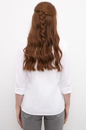 US Polo Assn Kadın Beyaz Gömlek 2