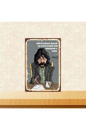 TAKIFİX Küfürü Bırakayım Diyorum Behzat Ç. 20-30 cm Retro Ahşap Poster 0