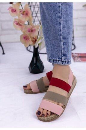 Erbilden Kadın Vizon Wendy Renkli Sandalet 0
