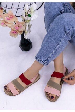 Erbilden Kadın Vizon Wendy Renkli Sandalet 1