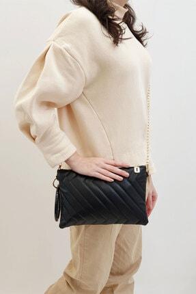 Marjin Kadın Siyah Portföy&Clutch Çanta Yanga 0