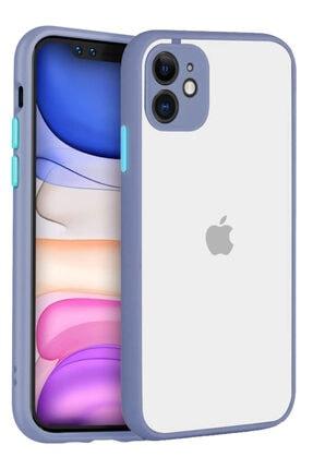 Apple Iphone 11 Kılıf Şeffaf Mat Kamera Köşe Korumalı Pürüzsüz Sert 0