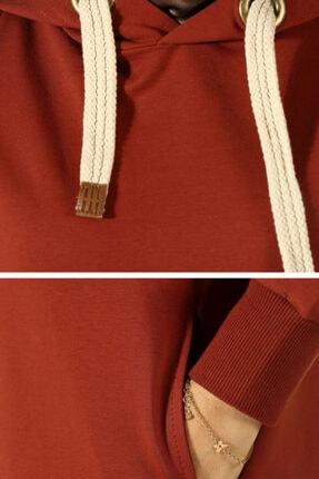 ALLDAY Kadın Turuncu Kuşgözlü Penye Sweatshirt 3