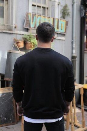 FAST EFFECT WEAR Fast Effect Erkek Onu Nakis Baskili Siyah Oversize Sweatshirt 2