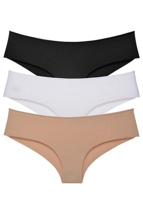 Sensu Kadın Brazilian Panty Lazer Kesim Külot 3'lü 0