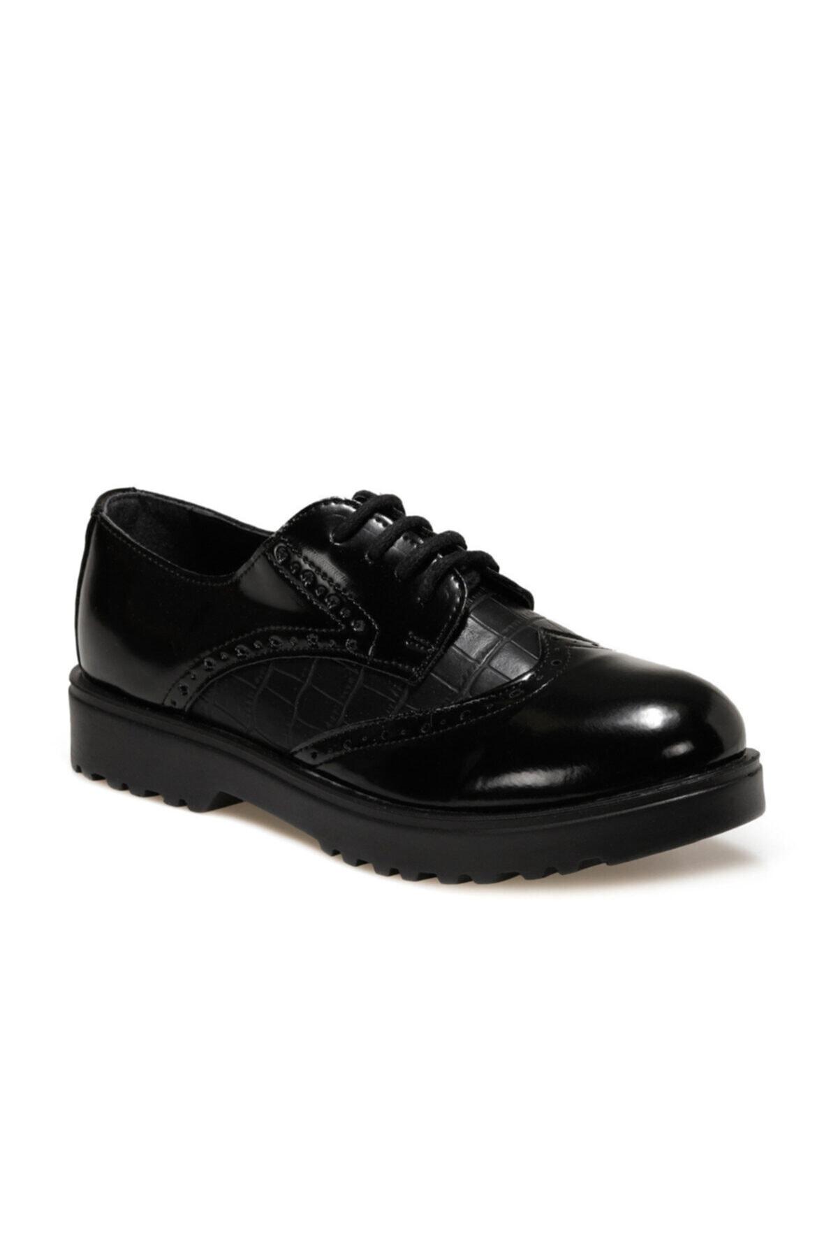 Polaris 316056.z Siyah Kadın Oxford Ayakkabı