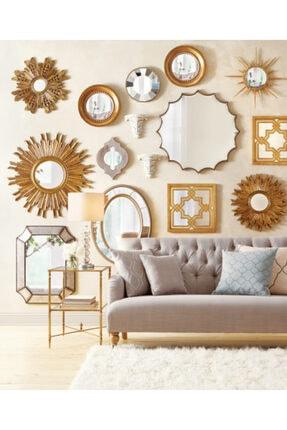 Warm Design Antik Altın Ayna 4