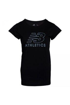New Balance Kadın Siyah Tişört 0