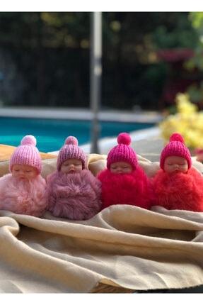 Novon Giyim & Aksesuar Peluş Sevimli Bebek Fuşya Anahtarlık, Çanta Süsü 1