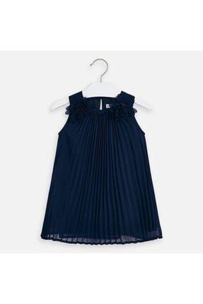 Picture of 3922 Ekose Çiçekli Kız Çocuk Elbise