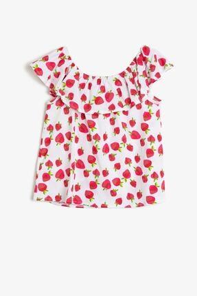 Koton Kız Çocuk Kırmızı T-Shirt 1