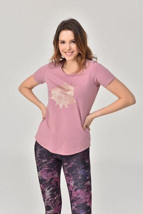 bilcee Pembe Büyük Beden Kadın T-Shirt GS-8131 0