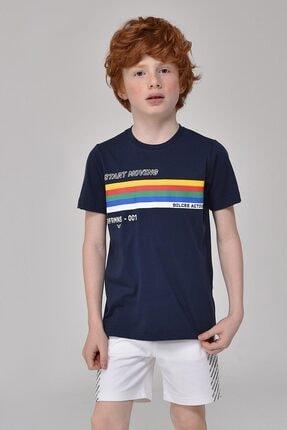 bilcee Unisex Çocuk Lacivert T-Shirt GS-8145 4