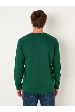 LC Waikiki Erkek Yeşil Sweatshirt 3