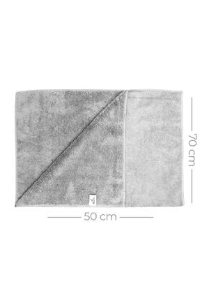 SmartBee Mikrofiber Çift Yüzlü Araç Kurulama Bezi 50x70 440gr/m2 - Açık Gri 3