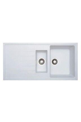 Vıvıano | | 1.5 Göz 50x100 Cm Beyaz Granit Evye + Sifon 1