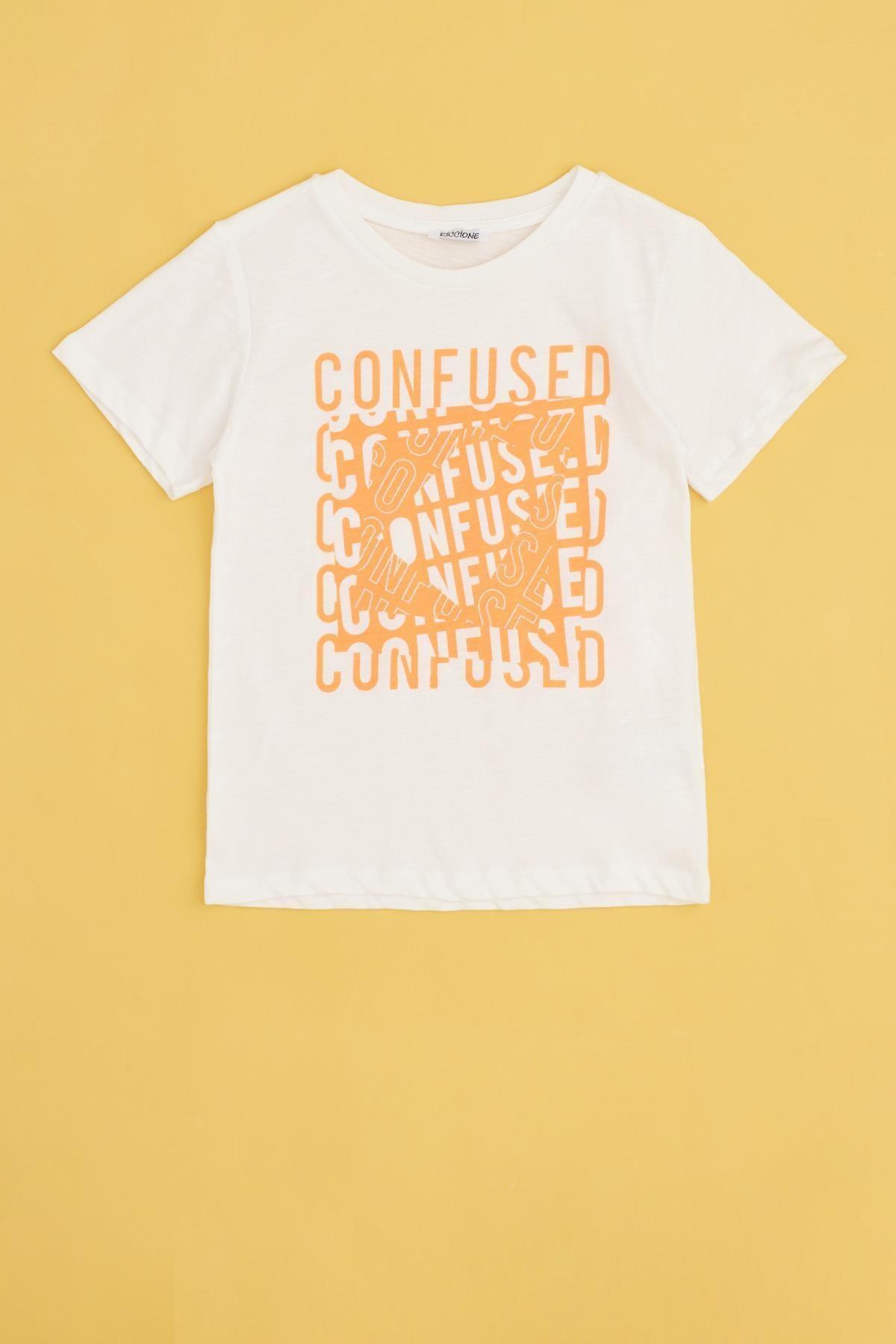 Erkek Çocuk Ekru T-Shirt