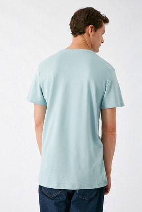 Koton Erkek Açık Mavi T-Shirt 1KAM14181CK 3