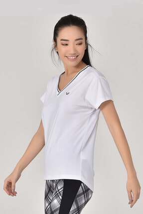 bilcee Beyaz Kadın T-Shirt GS-8029 2