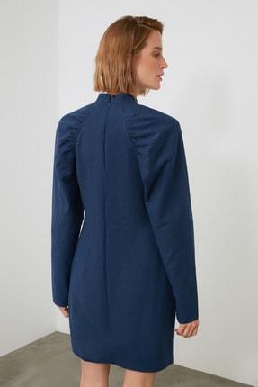 TRENDYOLMİLLA Lacivert Kol Detaylı Elbise TWOAW21EL2002 3