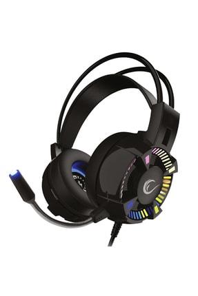 Rampage Styles Siyah Usb 7.1 Rgb Oyuncu Mikrofonlu Kulaklık 0