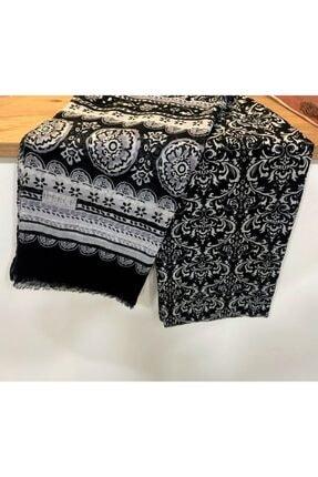 İpekçe Home Siyah Pamuklu Çiçek Desen Renkli Pamuk Tülbent Şal 1