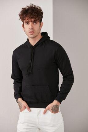 CATSPY Erkek Siyah Kapüşonlu Sweatshirt 2