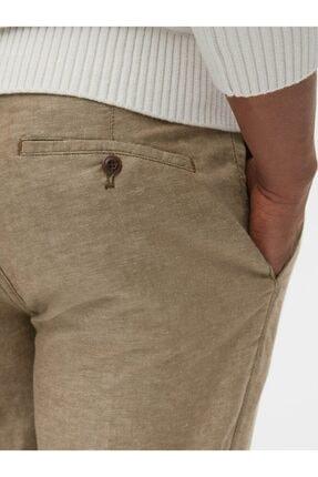 GAP Slim Fit Keten Khaki Pantolon 3