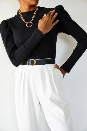 Xena Kadın Siyah Omuzları Büzgülü Bluz 1KZK3-10750-02 3