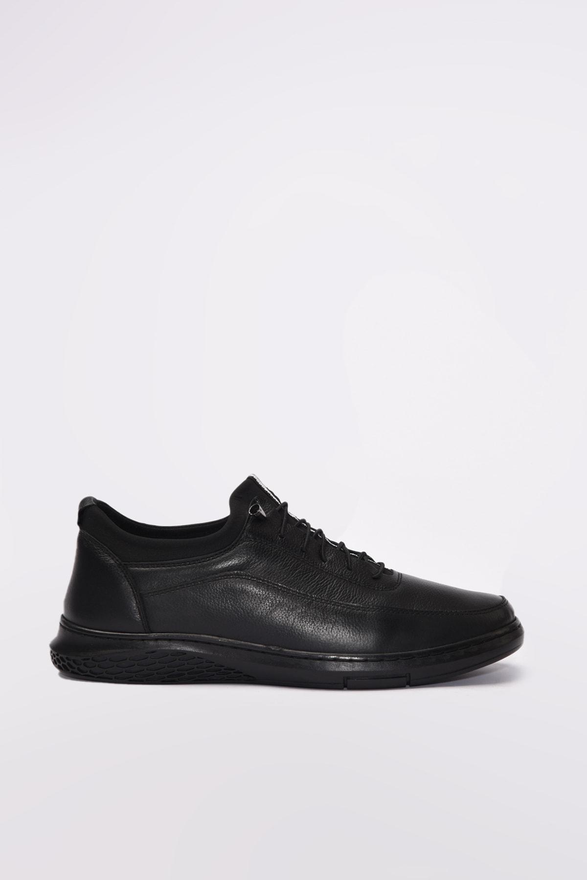 Yaya by Hotiç Hakiki Deri Siyah Erkek Sneaker 02AYY189610A100
