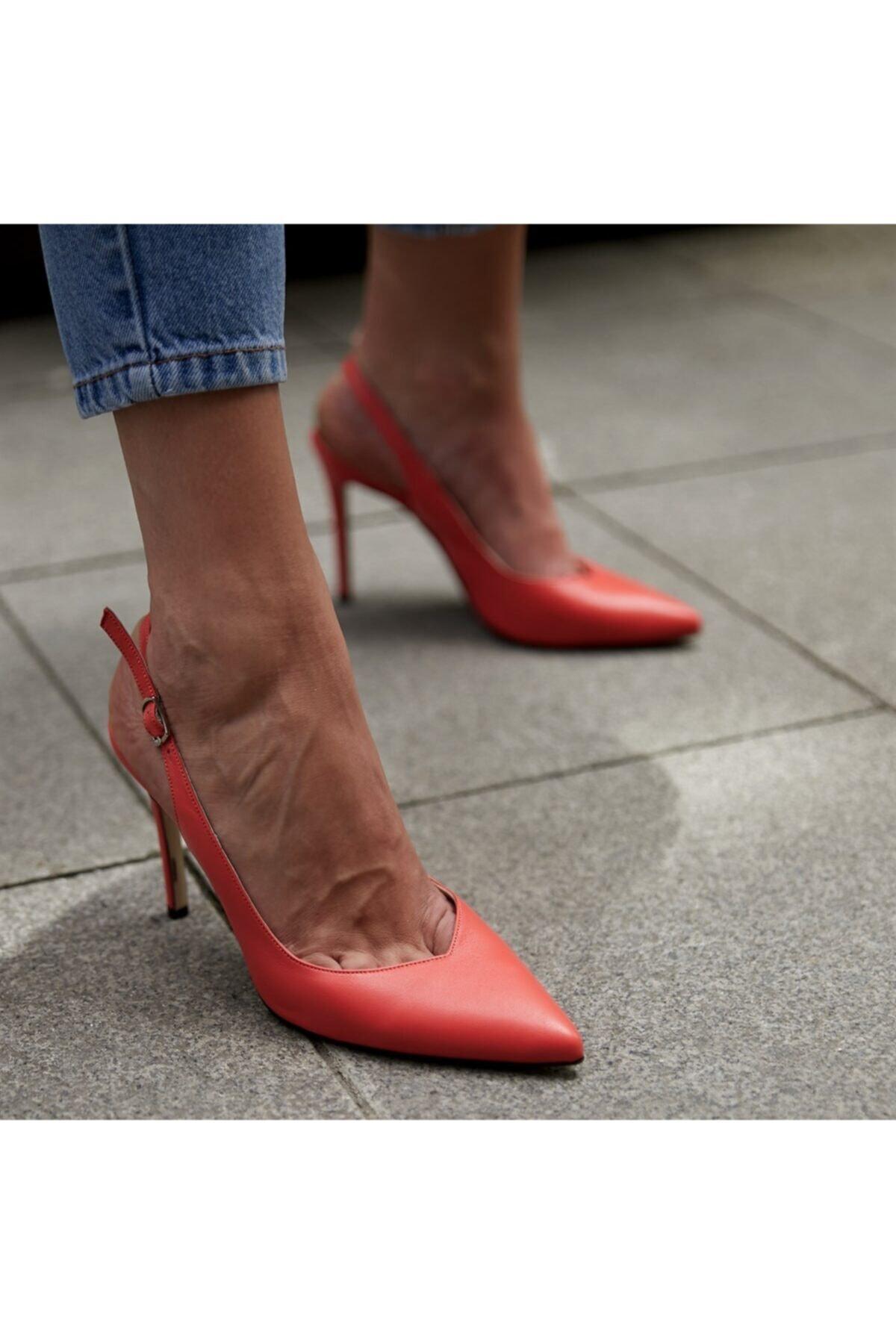 BUTİKTOZLU Kadın Turuncu Topuklu Ayakkabı