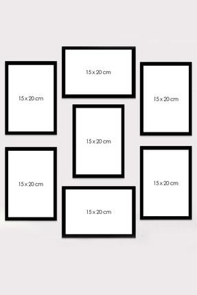 Kate Louise 7 Parça Çerçeve Görünümlü Mdf Tablo Seti (60x60 Cm) 1