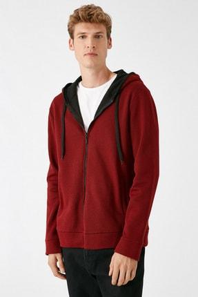 Koton Erkek Bordo Sweatshirt 1KAM71089LK 2