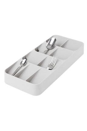 Morpanya Çekmece İçi Kaşıklık ve Bıçaklık Seti Mutfak Çekmece Düzenleyici Organizer Beyaz 4